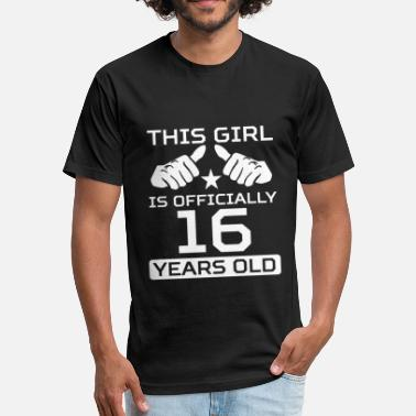 16 Birthday This Girl Is 16 Years Funny 16th Birthday - Unisex Poly Cotton T-Shirt
