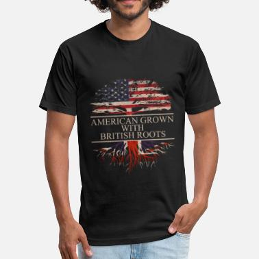 The British Empire american grown with british roots - Unisex Poly Cotton T-Shirt