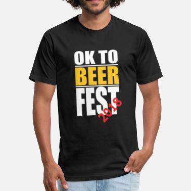 Beer Jokes Oktoberfest 2018 Joke - Fitted Cotton/Poly T-Shirt by Next Level