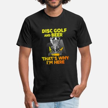 Disc Golf And Beer T-Shirt - Fitted Cotton/Poly T-Shirt by Next Level