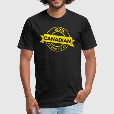 Canadian Band Canadian Proud - Fitted Cotton/Poly T-Shirt by Next Level