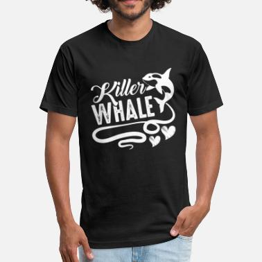 Killer Whales Killer Whale - Fitted Cotton/Poly T-Shirt by Next Level