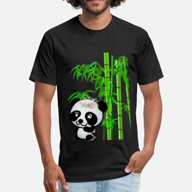 Bamboo Panda Bamboo Panda - Fitted Cotton/Poly T-Shirt by Next Level