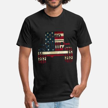 Cool Jeep Jeep - Fitted Cotton/Poly T-Shirt by Next Level