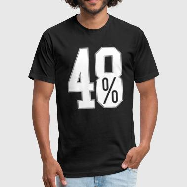 Referendum 48 Percent EU Referendum - Fitted Cotton/Poly T-Shirt by Next Level