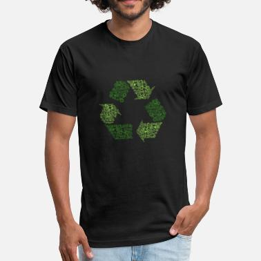 Recycling Bicycles Recycle - Fitted Cotton/Poly T-Shirt by Next Level