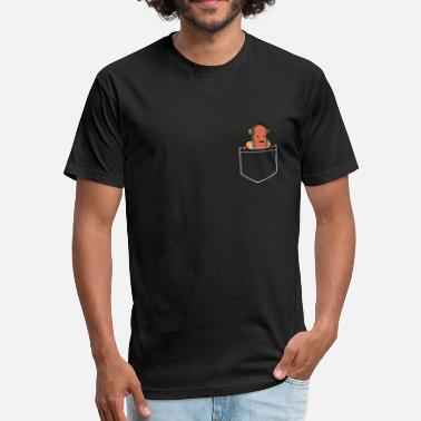 Dancing Hotdog Meme Pocket Hotdog Dancing - Fitted Cotton/Poly T-Shirt by Next Level