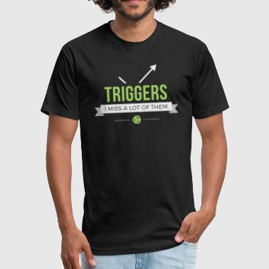 Triggers - Magic the Gathering Funny - Fitted Cotton/Poly T-Shirt by Next Level
