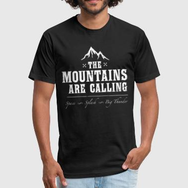 The Mountains Are Calling Space Splash - Fitted Cotton/Poly T-Shirt by Next Level