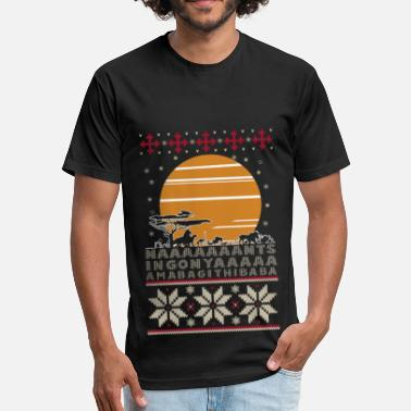 American Motors Art Africa - Ugly Christmas Sweater for lovers - Fitted Cotton/Poly T-Shirt by Next Level