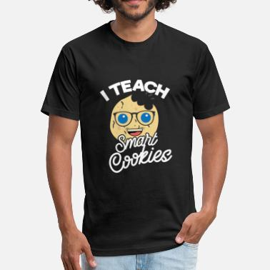 Graduate Toddler I Teach Smart Cookies Little Students Toddler Teac - Fitted Cotton/Poly T-Shirt by Next Level