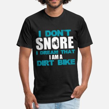 Kawasaki I Don't Snore I Dream That I'm A Dirt Bike | Funny - Fitted Cotton/Poly T-Shirt by Next Level