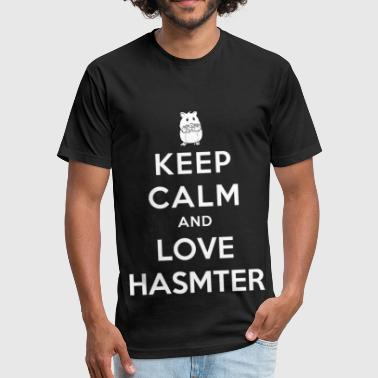 Hamster - Keep calm and love hamster - Fitted Cotton/Poly T-Shirt by Next Level