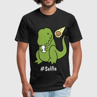 Tyrannosaurus - Selfie - Fitted Cotton/Poly T-Shirt by Next Level