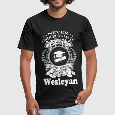 Graduate Evolution Graduated from Wesleyan - Never underestimate - Fitted Cotton/Poly T-Shirt by Next Level