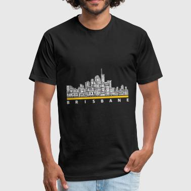 Brisbane - Brisbane - brisbane great t shirt - Fitted Cotton/Poly T-Shirt by Next Level