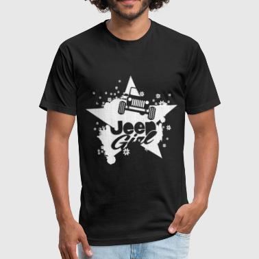 Jeep Muscle-t Jeep girl - Proud to be a jeep girl t-shirt - Fitted Cotton/Poly T-Shirt by Next Level