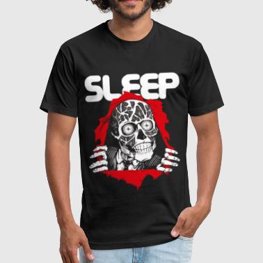 Mickey Hand Obey Obey - Fitted Cotton/Poly T-Shirt by Next Level