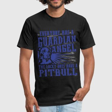 Pitbull - Everyone has a guardian angel - Fitted Cotton/Poly T-Shirt by Next Level