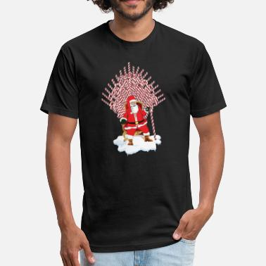 Thrones Christmas of Thrones - Santa is coming - Fitted Cotton/Poly T-Shirt by Next Level