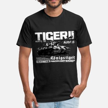 World Of Tanks Tiger II - Fitted Cotton/Poly T-Shirt by Next Level