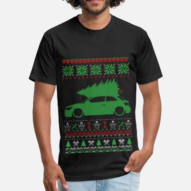 Christmas Ugly Sweater - Fitted Cotton/Poly T-Shirt by Next Level
