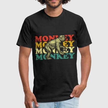 Monkey chimpanzee - Fitted Cotton/Poly T-Shirt by Next Level