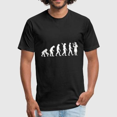 Evolution - evolution bagpipe player - Fitted Cotton/Poly T-Shirt by Next Level