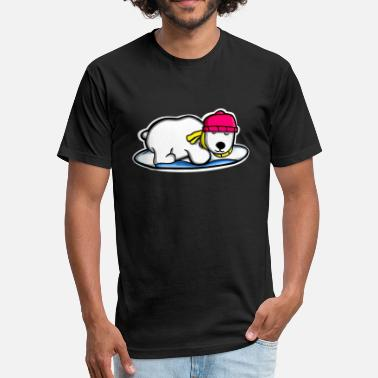 Icey Bear Too Icey - Fitted Cotton/Poly T-Shirt by Next Level
