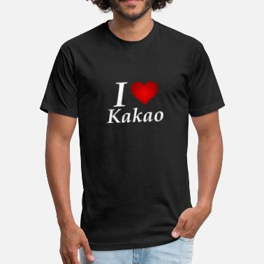 Kakao I Love Kakao in white - Fitted Cotton/Poly T-Shirt by Next Level