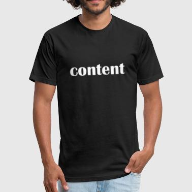 Content content - Fitted Cotton/Poly T-Shirt by Next Level