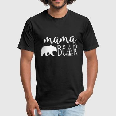 California Bear Family Mama bear - papa mama baby bear vintage distress - Fitted Cotton/Poly T-Shirt by Next Level