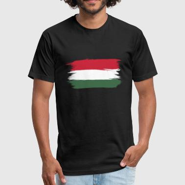 flag of hungary - Fitted Cotton/Poly T-Shirt by Next Level