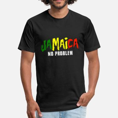 Souvenirs Jamaica - jamaica no problem vacation - Fitted Cotton/Poly T-Shirt by Next Level