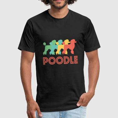 Poodle Art Poodle Pop Art - Fitted Cotton/Poly T-Shirt by Next Level