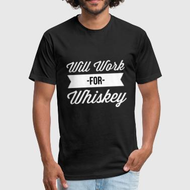 Whiskey & Yoga Will Work for Whiskey - Fitted Cotton/Poly T-Shirt by Next Level