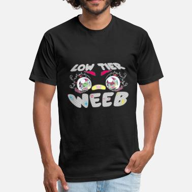 Weebs Low Tier Weeb - Fitted Cotton/Poly T-Shirt by Next Level