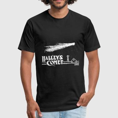 Nasa Cool Sayings Halleys Comet T Shirt Vintage Nasa T Shirt Cool - Fitted Cotton/Poly T-Shirt by Next Level