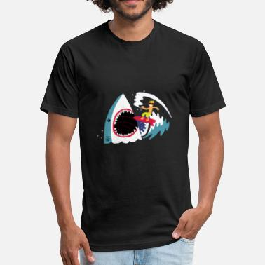 Fed Up Surf s Up - Fitted Cotton/Poly T-Shirt by Next Level
