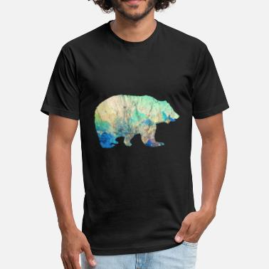 Mountain Bear Bear Mountains Vintage Gift Idea - Fitted Cotton/Poly T-Shirt by Next Level