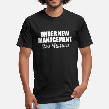 Just Married Geek JUST MARRIED - Fitted Cotton/Poly T-Shirt by Next Level