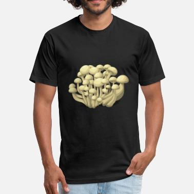 Drug Mushroom Mushrooms Shitake Drug Drugs Gift Present - Fitted Cotton/Poly T-Shirt by Next Level