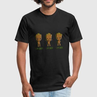 i am groot? - Fitted Cotton/Poly T-Shirt by Next Level