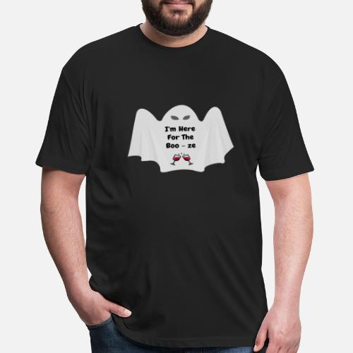 3e8a2970f Funny T-Shirts - Halloween Ghost with Funny Saying - Unisex Poly Cotton T-.  Do you want to edit the design?