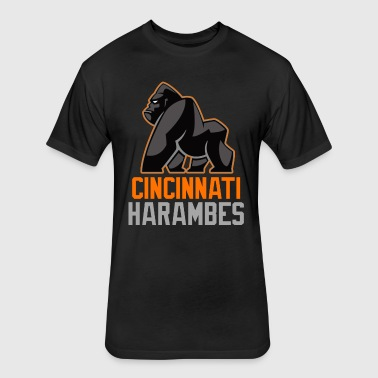 Cincinnati Harambes - Fitted Cotton/Poly T-Shirt by Next Level