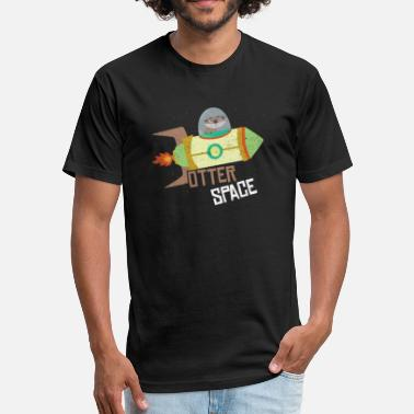 In Otter Space Otter Space - Fitted Cotton/Poly T-Shirt by Next Level