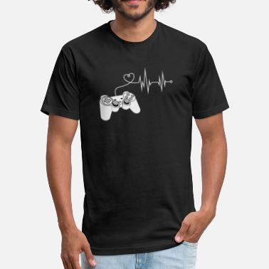 Gamer Gamer Heartbeat - Fitted Cotton/Poly T-Shirt by Next Level