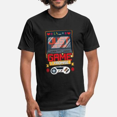 Neebs Epic Retro Video Gaming gift men boy adult husband - Fitted Cotton/Poly T-Shirt by Next Level