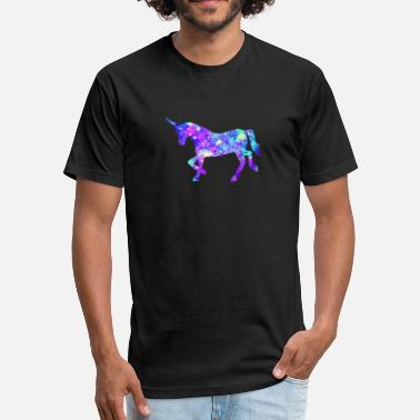 Flashy Flashy Unicorn - gift design - Fitted Cotton/Poly T-Shirt by Next Level