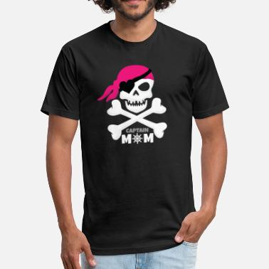 Captain Mom Captain Mom - Fitted Cotton/Poly T-Shirt by Next Level
